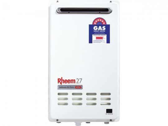 rheem continuous flow gas hot water heater - rheem 27